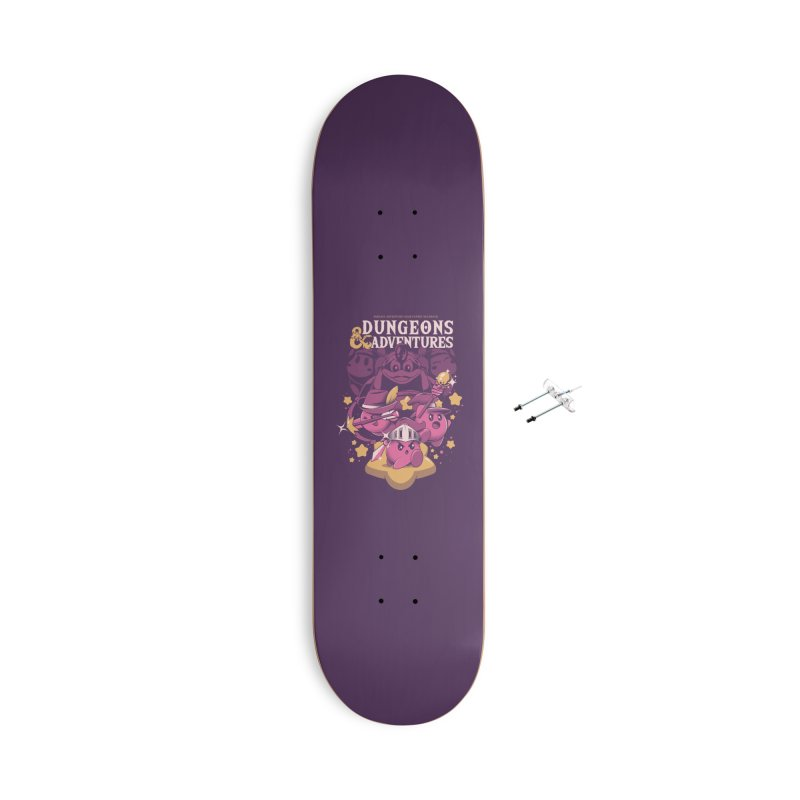 Dungeons and Adventures Accessories With Hanging Hardware Skateboard by ilustrata