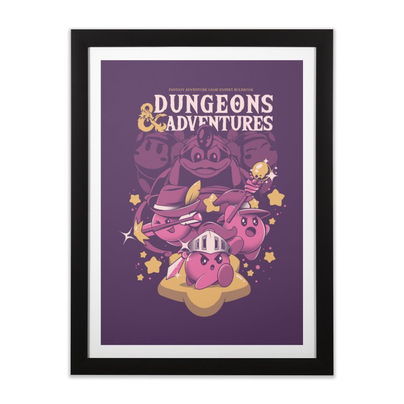 Dungeons and Adventures Home Framed Fine Art Print by ilustrata