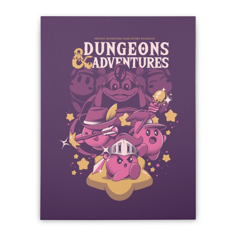 Dungeons and Adventures Home Stretched Canvas by ilustrata