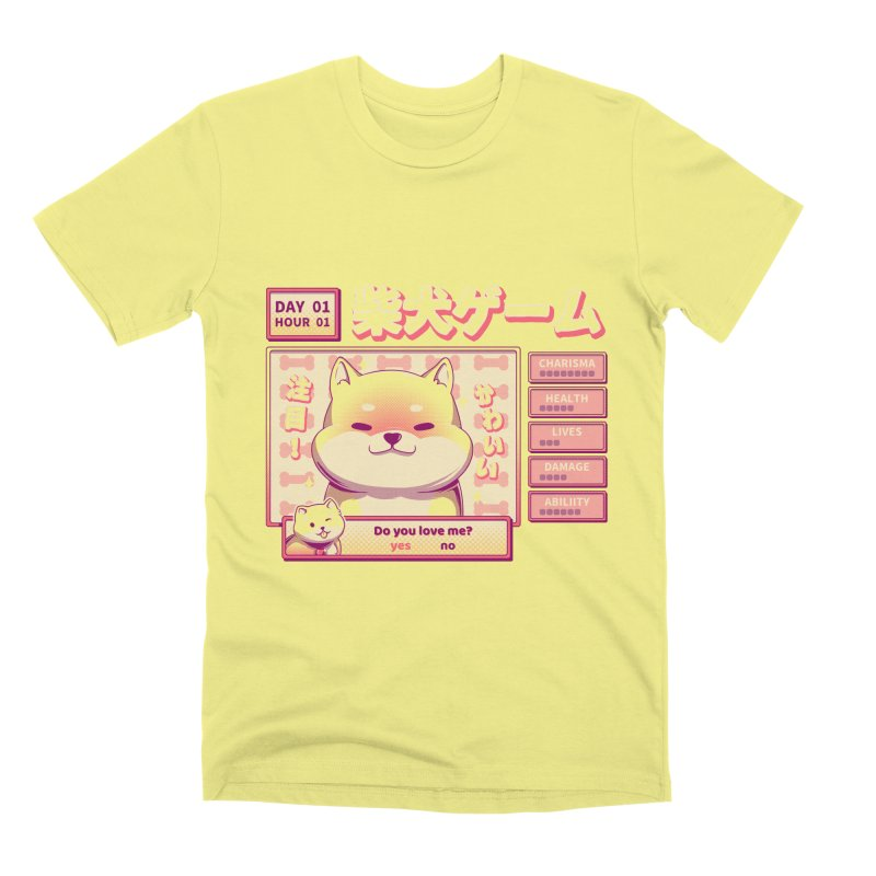 Shiba Novel Men's Premium T-Shirt by ilustrata