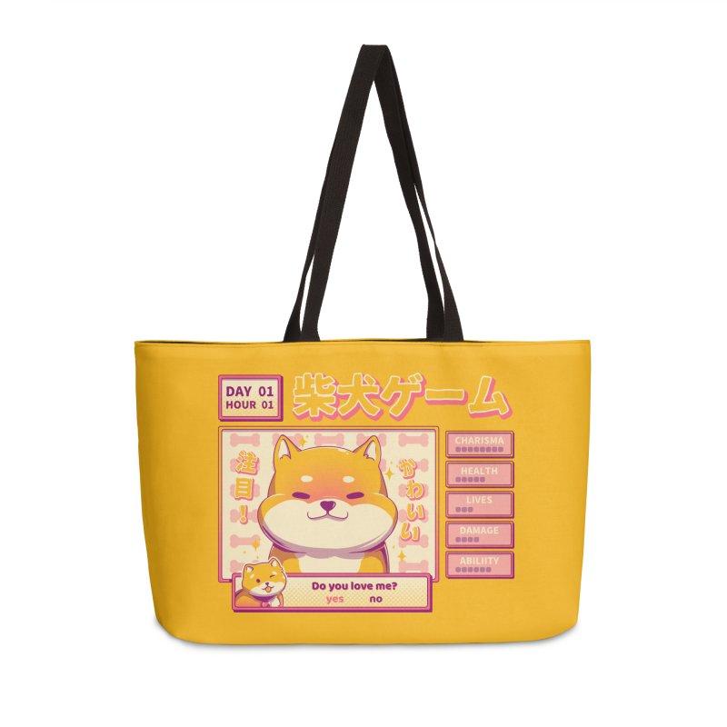 Shiba Novel Accessories Weekender Bag Bag by ilustrata