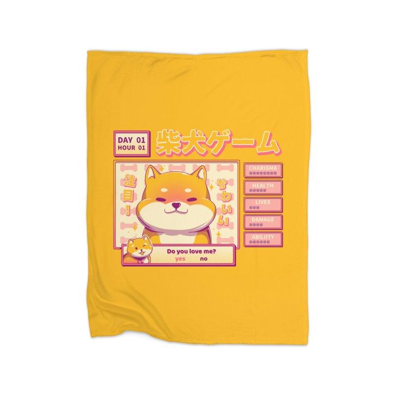 Shiba Novel Home Fleece Blanket Blanket by ilustrata
