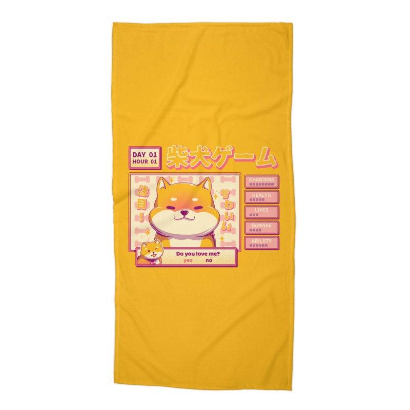 Shiba Novel Accessories Beach Towel by ilustrata