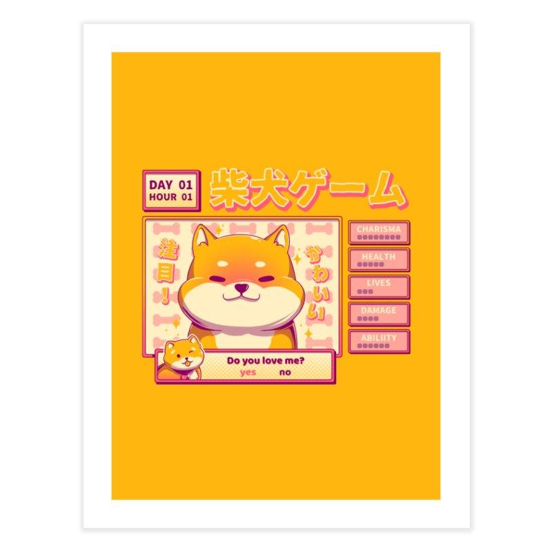 Shiba Novel Home Fine Art Print by ilustrata