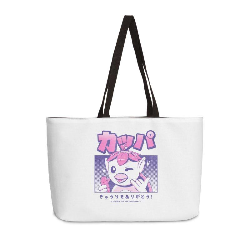 Japanese Kappa Accessories Weekender Bag Bag by ilustrata