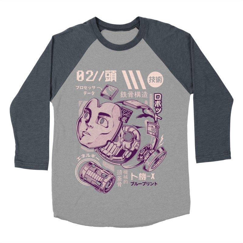 X's head Men's Baseball Triblend Longsleeve T-Shirt by ilustrata