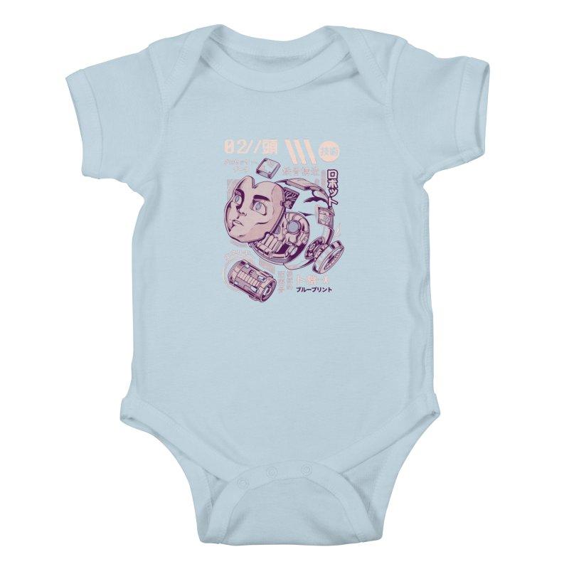 X's head Kids Baby Bodysuit by ilustrata
