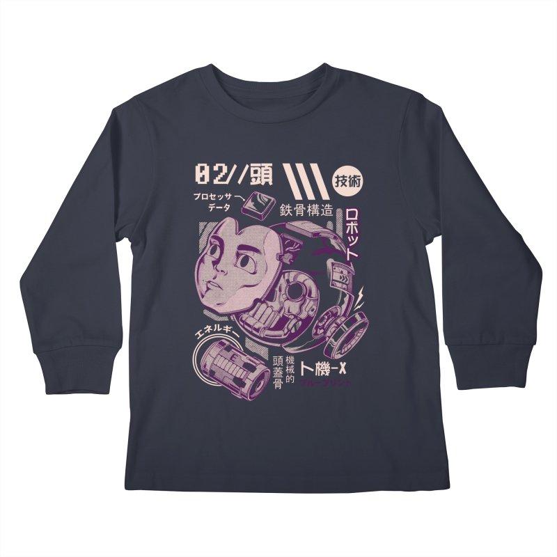 X's head Kids Longsleeve T-Shirt by ilustrata