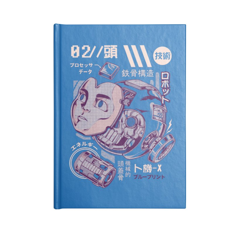 X's head Accessories Lined Journal Notebook by ilustrata