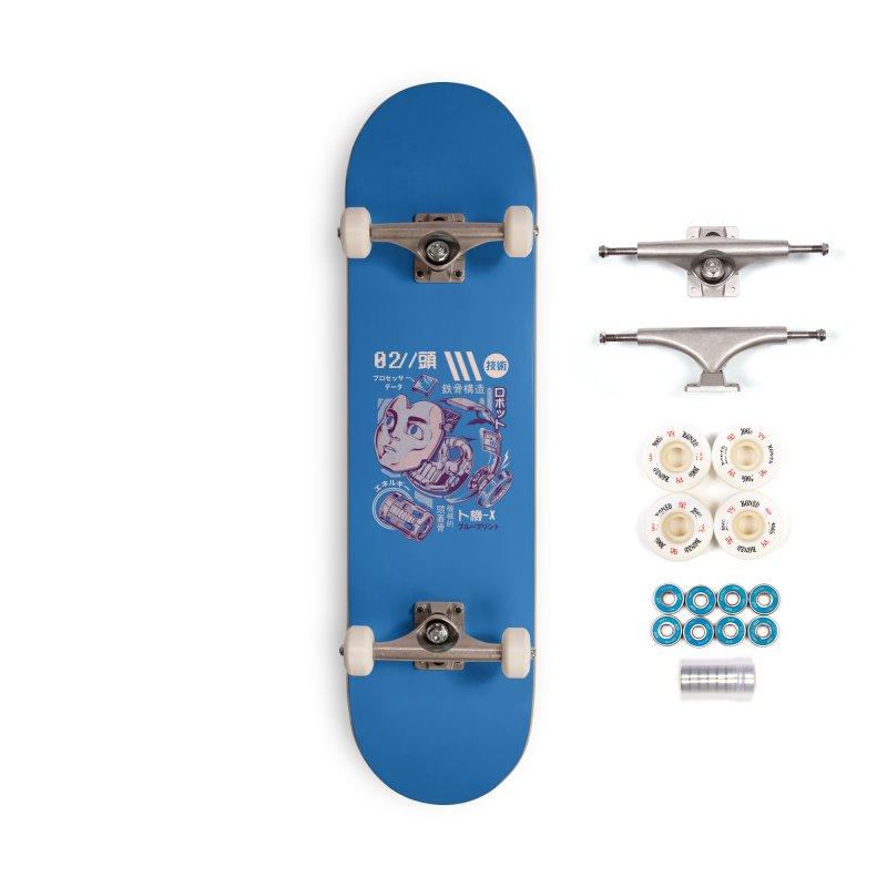 X's head Accessories Complete - Premium Skateboard by ilustrata
