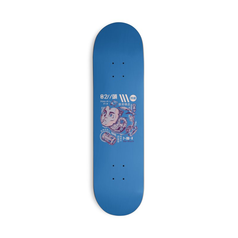 X's head Accessories Deck Only Skateboard by ilustrata