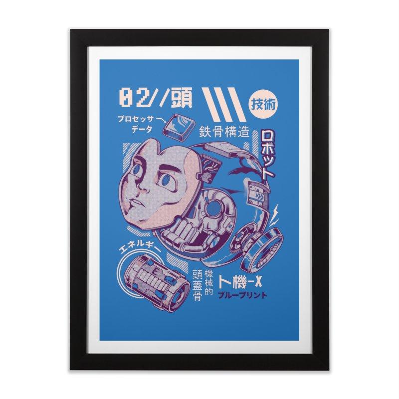 X's head Home Framed Fine Art Print by ilustrata