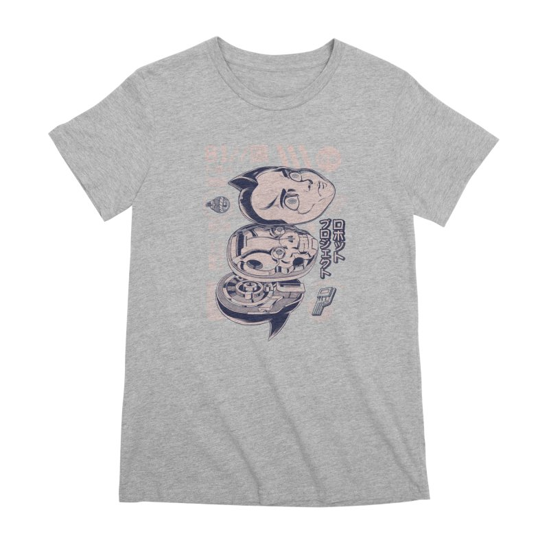 Atomic head Women's Premium T-Shirt by ilustrata