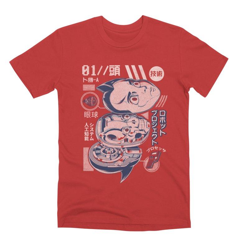 Atomic head Men's Premium T-Shirt by ilustrata