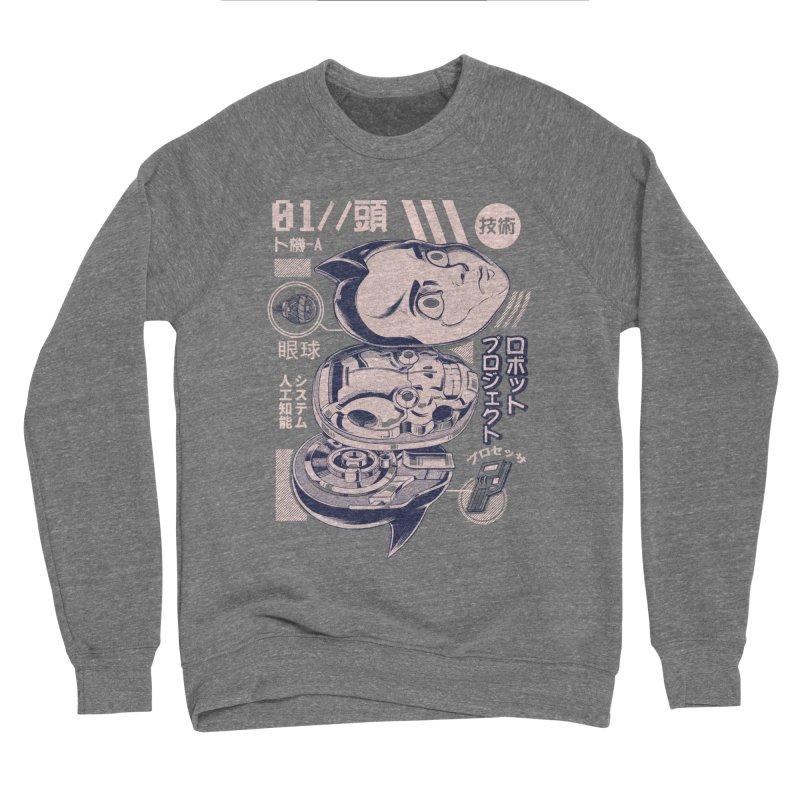 Atomic head Men's Sponge Fleece Sweatshirt by ilustrata
