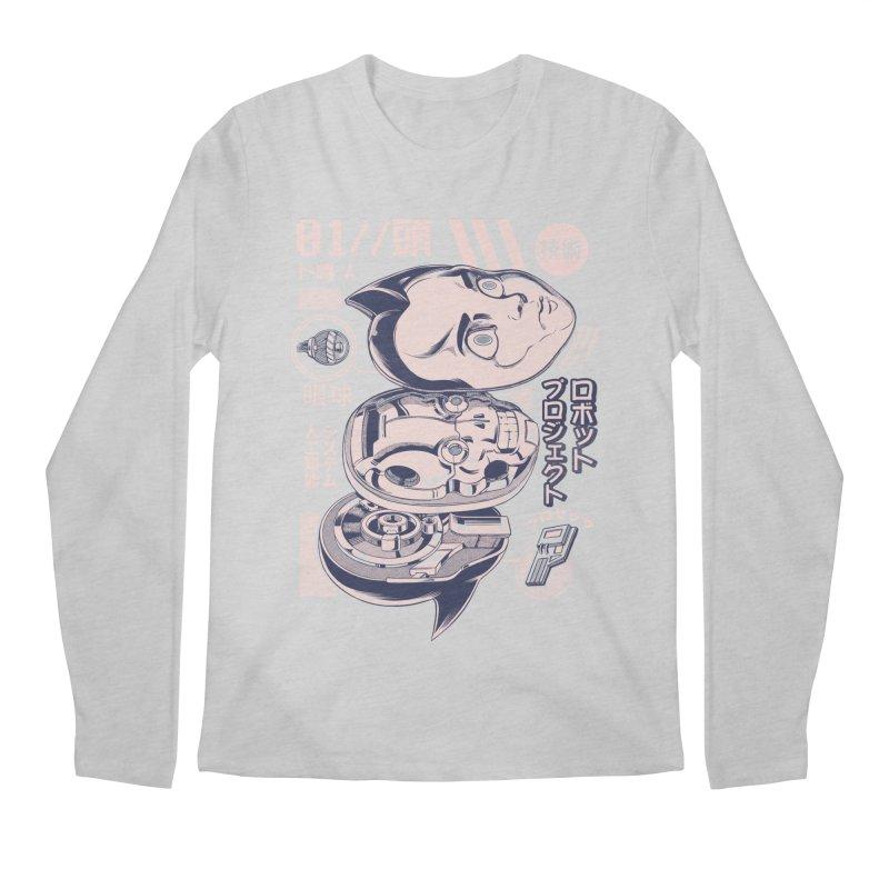 Atomic head Men's Regular Longsleeve T-Shirt by ilustrata