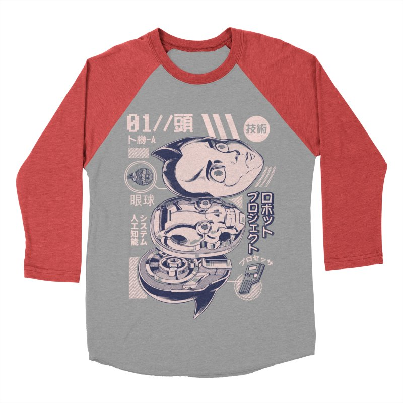 Atomic head Women's Baseball Triblend Longsleeve T-Shirt by ilustrata