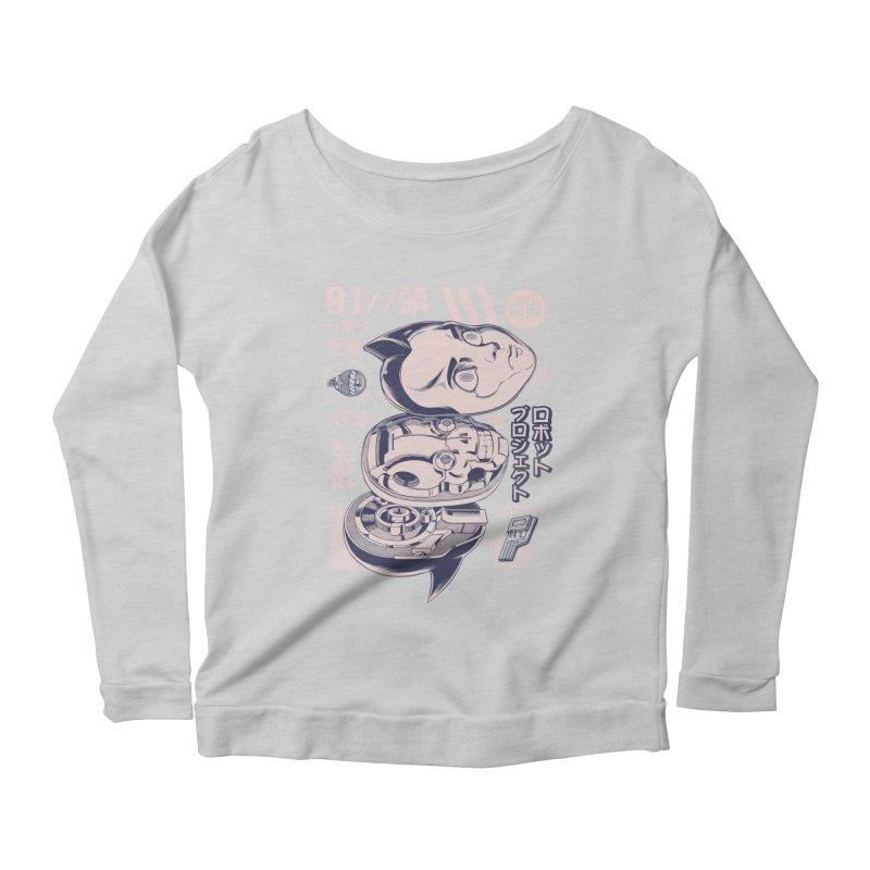 Atomic head Women's Scoop Neck Longsleeve T-Shirt by ilustrata