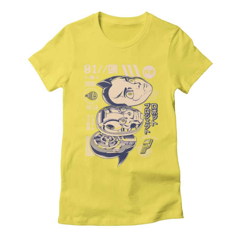 Atomic head Women's Fitted T-Shirt by ilustrata