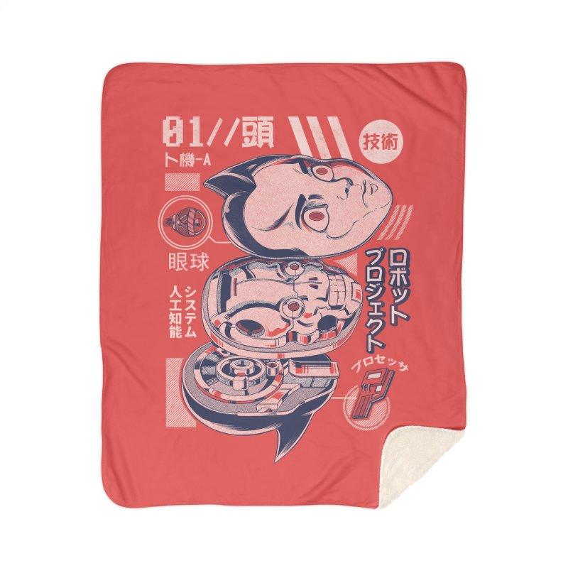 Atomic head Home Sherpa Blanket Blanket by ilustrata