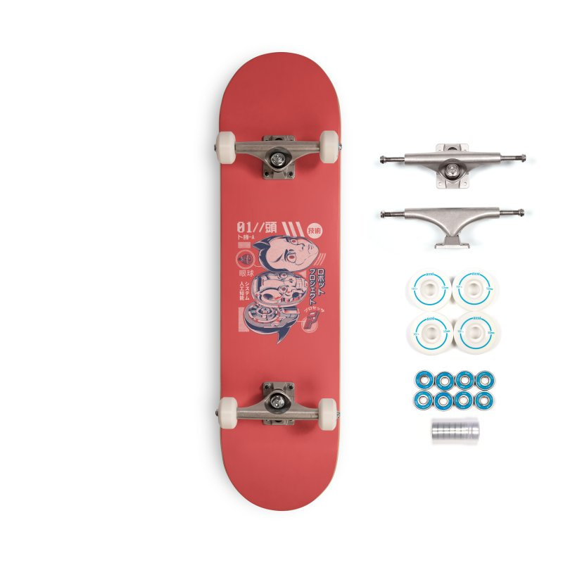 Atomic head Accessories Complete - Basic Skateboard by ilustrata