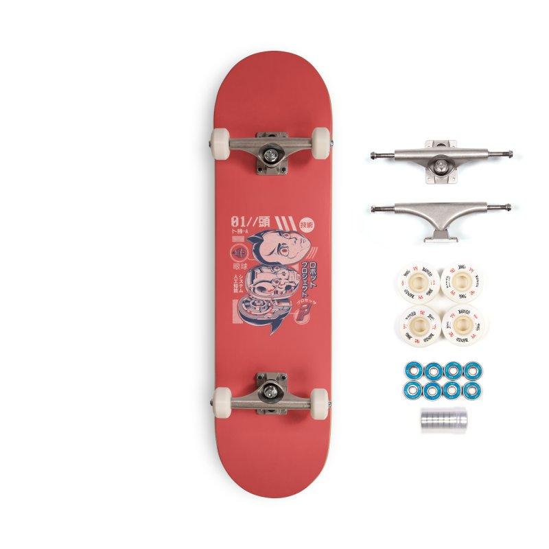 Atomic head Accessories Complete - Premium Skateboard by ilustrata