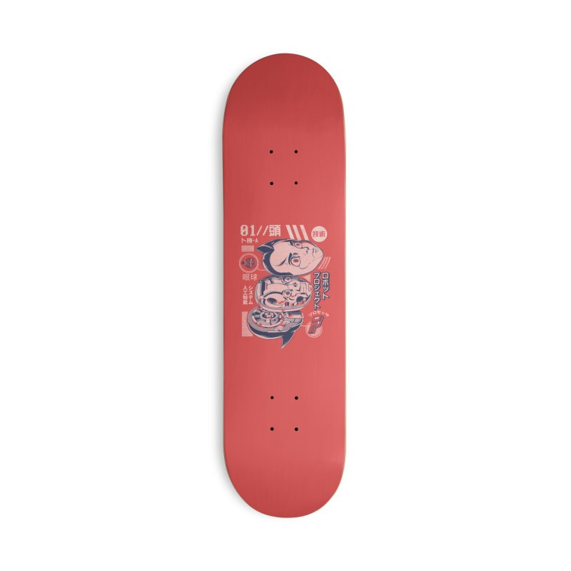 Atomic head Accessories Deck Only Skateboard by ilustrata