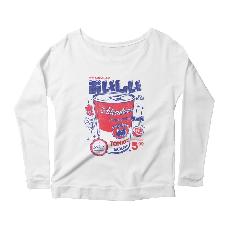 Tomato soup Women's Scoop Neck Longsleeve T-Shirt by ilustrata