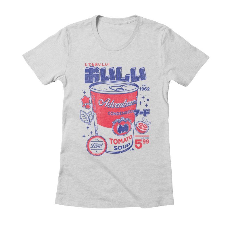 Tomato soup Women's Fitted T-Shirt by ilustrata