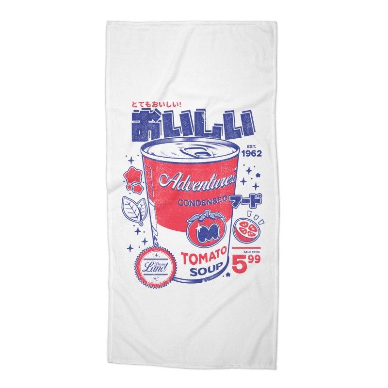 Tomato soup Accessories Beach Towel by ilustrata