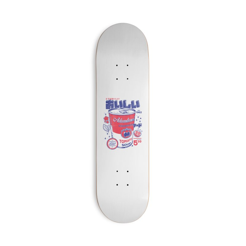 Tomato soup Accessories Deck Only Skateboard by ilustrata