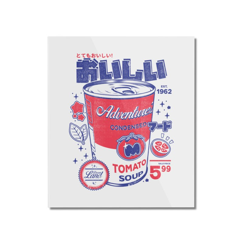Tomato soup Home Mounted Acrylic Print by ilustrata