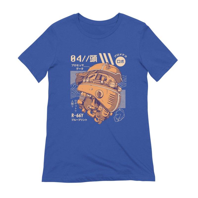 Robo-head Women's Extra Soft T-Shirt by ilustrata