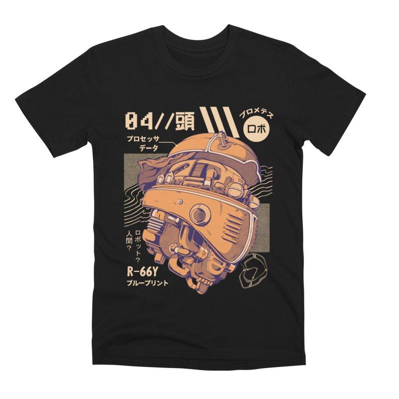 Robo-head Men's Premium T-Shirt by ilustrata