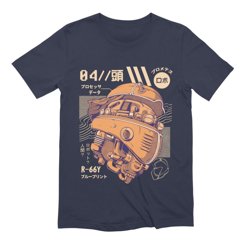Robo-head Men's Extra Soft T-Shirt by ilustrata