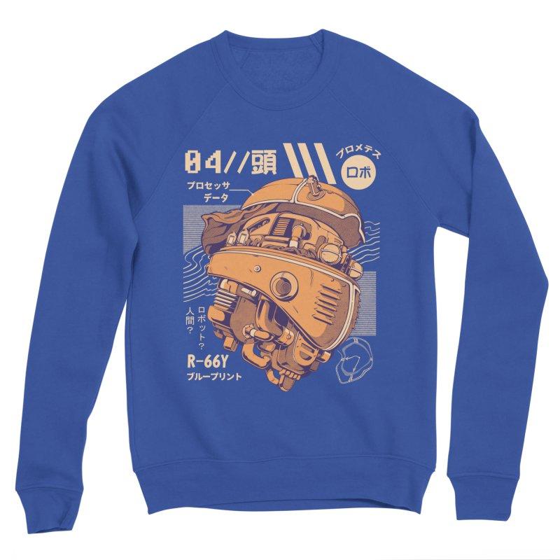 Robo-head Men's Sponge Fleece Sweatshirt by ilustrata