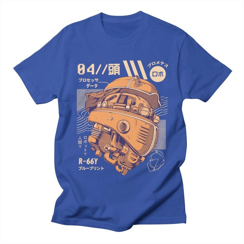 Robo-head Men's T-Shirt by ilustrata