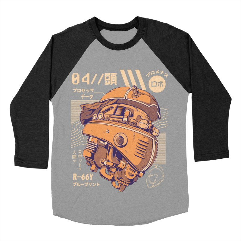 Robo-head Men's Baseball Triblend Longsleeve T-Shirt by ilustrata