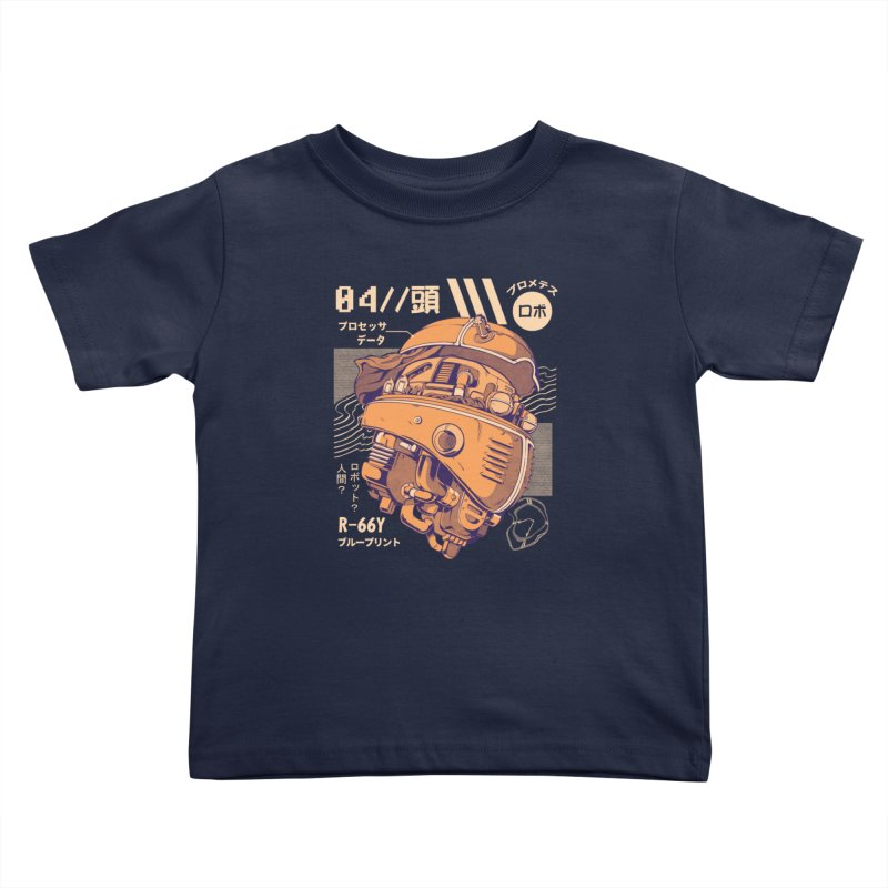 Robo-head Kids Toddler T-Shirt by ilustrata