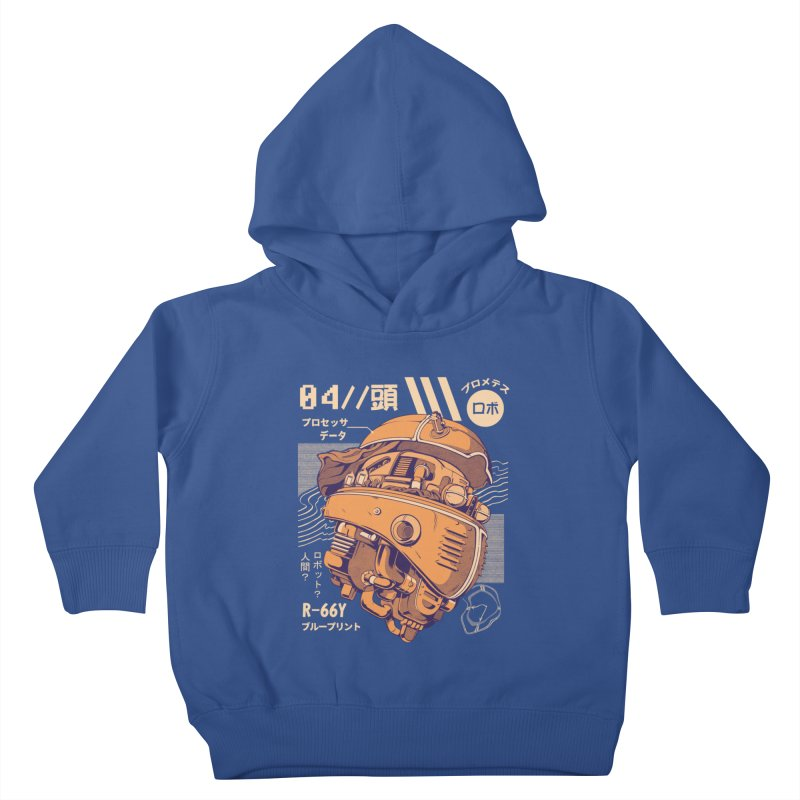 Robo-head Kids Toddler Pullover Hoody by ilustrata