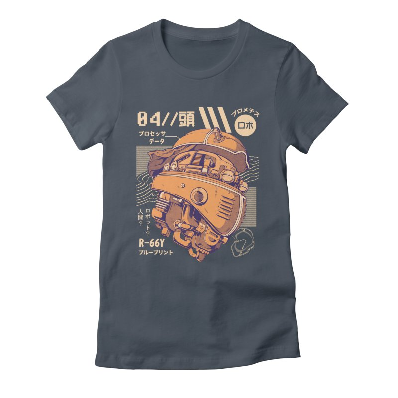 Robo-head Women's Fitted T-Shirt by ilustrata