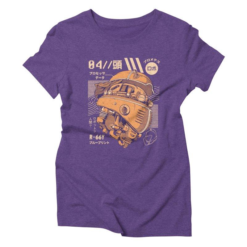 Robo-head Women's Triblend T-Shirt by ilustrata