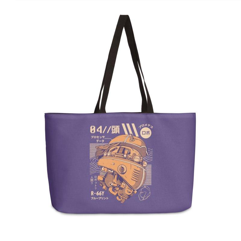 Robo-head Accessories Weekender Bag Bag by ilustrata
