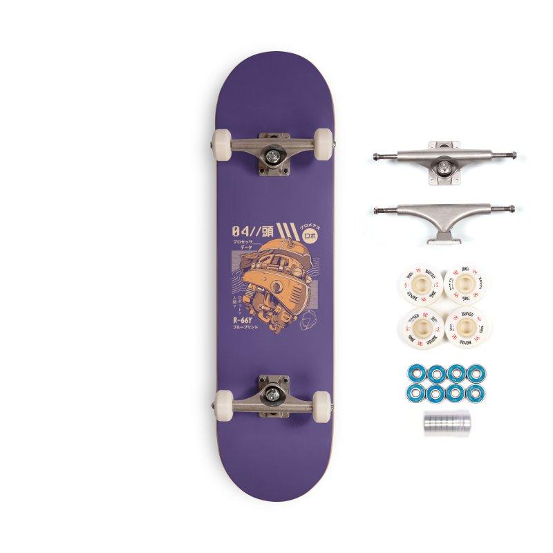 Robo-head Accessories Complete - Premium Skateboard by ilustrata