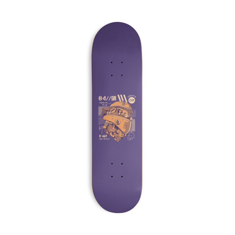 Robo-head Accessories Deck Only Skateboard by ilustrata