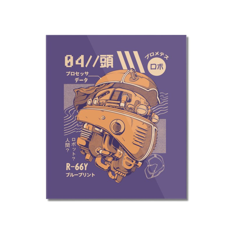 Robo-head Home Mounted Acrylic Print by ilustrata