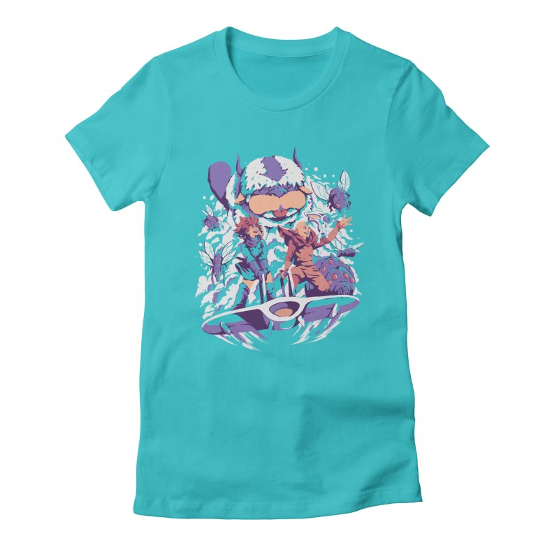 From the valley of the wind Women's Fitted T-Shirt by ilustrata