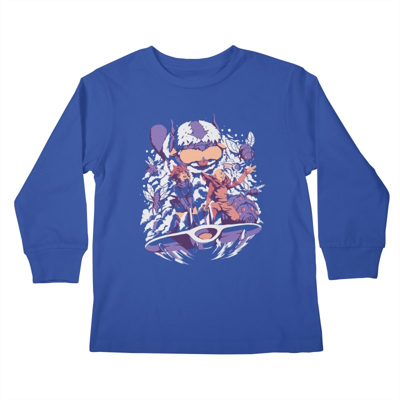 From the valley of the wind Kids Longsleeve T-Shirt by ilustrata