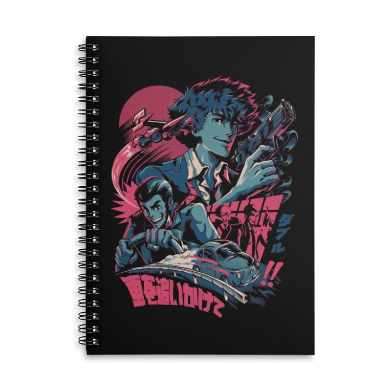 LxS Accessories Lined Spiral Notebook by ilustrata