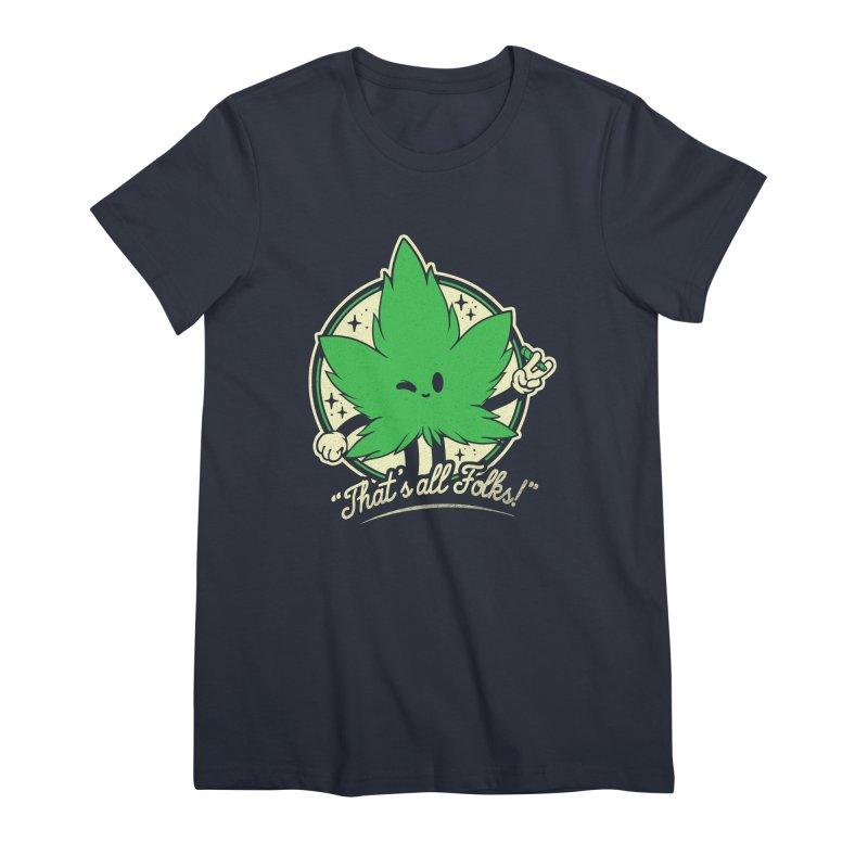 That's all Folks! Women's Premium T-Shirt by ilustrata